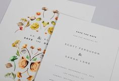 Design Work Life » cataloging inspiration daily #floral #save the date #wedding invite