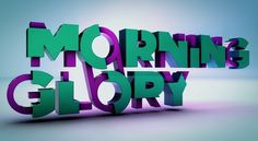 Morning Glory on the Behance Network #motion #3d #typography