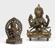Bronze des Bhairava und der Prajnaparamita