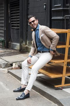 #mens #fashion #denim #loafers #pocketsquare