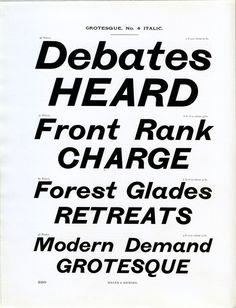 Miller and Richard's Grotesque font specimen #type #specimen #font #typography