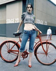 FFFFOUND! | Zooey Deschanel - Babes #bike #photography #girl