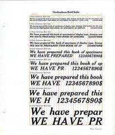 Cheltenham Bold Italic type specimen