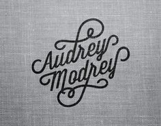 Audrey Modrey on the Behance Network #logo