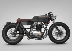 Custom Yamaha XS650 by Thrive Motorcycle | Inspiration Grid | Design Inspiration #yamaha, vehicle, black, angular