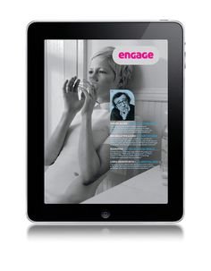 ePublishing—Engage Magazine I am Peter King—Graphic designer #logo #epublishing #magazine #ipad