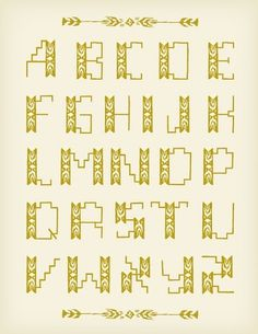 Mary Kate McDevitt #tan #print #color #drawn #poster #gold #arrow #type #hand #typography