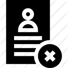 See more icon inspiration related to files and folders, professions and jobs, human resources, CV, candidate, businessman, manager and denied on Flaticon.