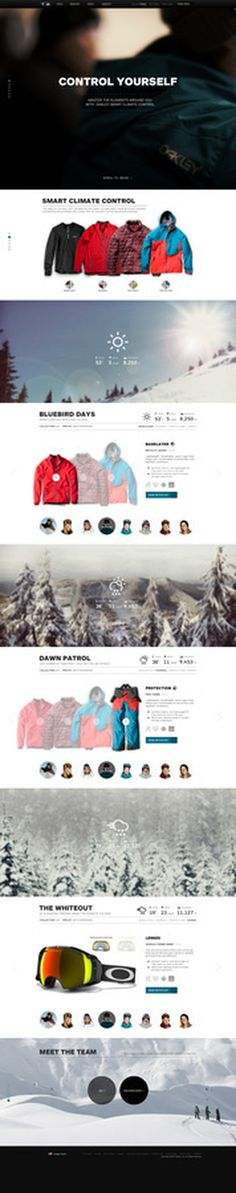 Oakley Pro Rider Series #flat #oakley #minimal #parallax #minisite #layout #web #typography