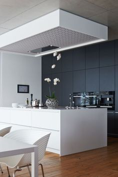 Modern black&white kitchen #modern #kitchen