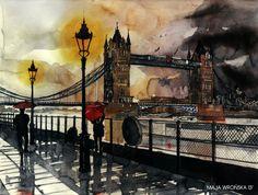 Tower bridge #watercolor #painting