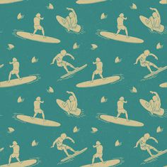 surf pattern #illustration #pattern #surfing #abo #orka #sndct