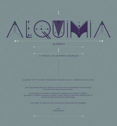 ALQUIMIA TYPE on the Behance Network #type #lettering #typography