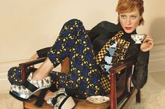 Chloe Sevigny Ads - Miu Miu Fall 2012 Campaign #fashion #patterns #miu #tea