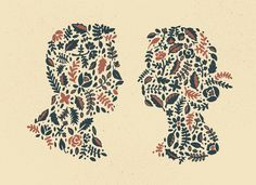 Floral_silhouette_detail #illustration