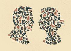 Floral_silhouette_detail #illustration