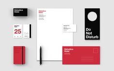 Helvetica hotel #branding #helvetica #stationary #stationery