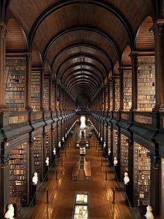 "CJWHO â""¢ (The Trinity Library in Dublin, Ireland The...) #dublin #design #books #interiors #ireland #trinity #wood #library"