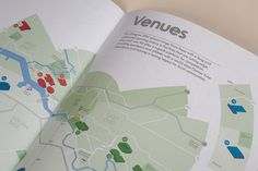 Tangent ­— Glasgow 2014 Ticketing Guide #information #guide #print #map #grid #spread #info #layout #brochure