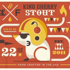 Likes #illustration #packaging #drink #beer #mouse #circus #flame #cherry