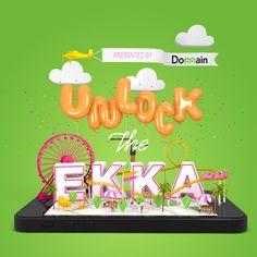 Unlock The EKKA by JeanPierre Le Roux #lettering #cgi #design #poster #3d #typography