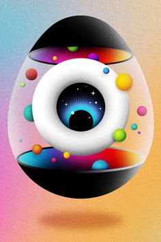 Darcel La Boca #abstract #eyeball #eye #illustration #balls