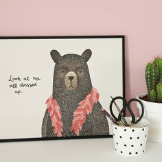#nordic #design #graphic #illustration #danish #boa #simple #nordicliving #living #interior #kids #room #poster #bear #teddy #dressup
