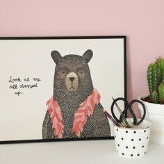 #nordic #design #graphic #illustration #danish #boa #simple #nordicliving #living #interior #kids #room #poster #bear #teddy #dressup
