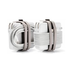 Manage all your electronics' cord clutter with the Charger Cable Belt Tie. Designed with double-layer straps, it lets you bundle or wrap cables securely around your charger while preventing them from twisting or bending. It is made from heat-resistant silicone with a surface coating that repels dirt and keeps cables clean!