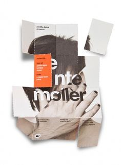 foldable brochure by face | 123 Inspiration #design #studio #brochure #face #foldable