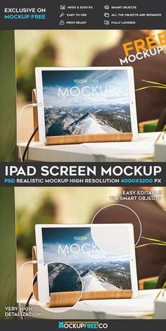iPad Screen – Free PSD Mockup