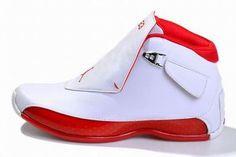 Air Jordan 18 Retro White/Red Men's #shoes