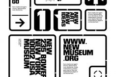 Joshua Distler _ New Museum Membership Kit Sketches #design #typography