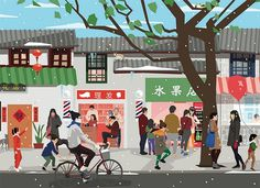 Chinese New year illustration by Jingyao Guo