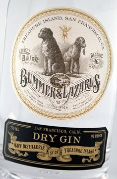 Raff Distillerie ~ Dry Gin ~ Gin Label Design ~ Packaging ~ Auston Design Group