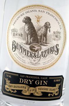 Raff Distillerie ~ Dry Gin ~ Gin Label Design ~ Packaging ~ Auston Design Group