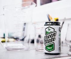 green, state, green state, beer, can, modern