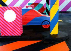 Colorful Street Art Installations by Maser-2 #street art #maser #installation #colour