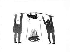 Trevor Gordon Arts – Illustrations #illustration #black and white