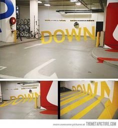 Perspective garage sign #type #perspecitve #garage