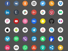 Free Social Icons (Color + Black and White)