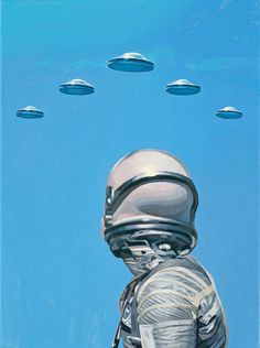"""They Come"" by Scott Listfield #ufos #astronaut #space #scifi #aliens #spaceman #ufo #sci-fi"