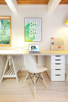 "The Studio of ""Coast Modern"" Filmmaker Gavin Froome #interior #miller #space #working #beautiful #herman #eames"