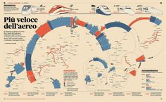 We Love Infographics — Treni ad alta velocitàby Francesco Franchi #dataviz #infographics #we #map #illustration #transport #franchi #love #francesco