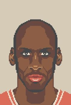 NBA Off-Season #jordan #pixel #illustration #art #basketball #michael