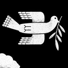 telegramme_econom_2 #illustration #pigeon #peace #bird
