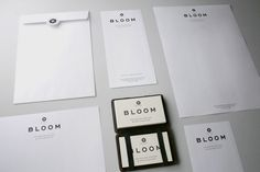 Bloom Interior Design | Famous Visual Services #stationery #print #typography