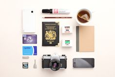 passport #inspiration #creative #knolling #examples #photography #knoll #organization