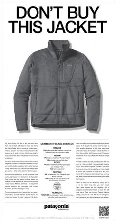 Ad of the Day: Patagonia Asks You to Please Stop Buying Its Products | Adweek #buy #dont #this #jacket #patagonia