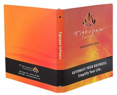 3 Ring 2 Pocket Letter Size Binder for Tigerpaw Software